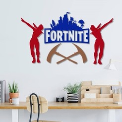 3D print model Fortnite wall decoration ( set of 4 models ), 3dprintlines
