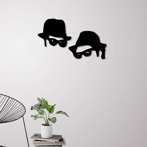 3D printer files Men in black wall decoration, 3dprintlines