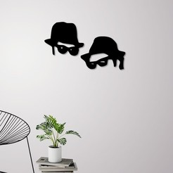 Download 3D printer files Men in black wall decoration, 3dprintlines