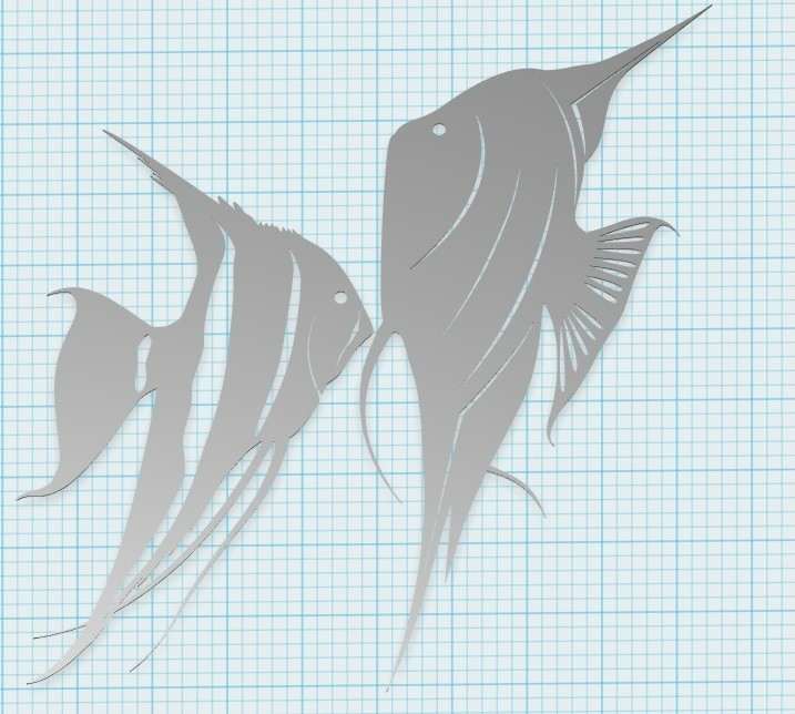 33.jpg Download STL file Angel fish wall art \ Decor • 3D printing object, 3dprintlines