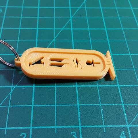 Free 3D printer designs ANCIENT EGYPTIAN KEY CHAIN , 3dprintlines