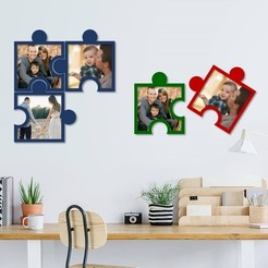 Download 3D print files Puzzle photo frames , 3dprintlines