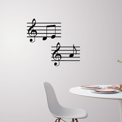 Download 3D printer designs Music note wall decoration, 3dprintlines