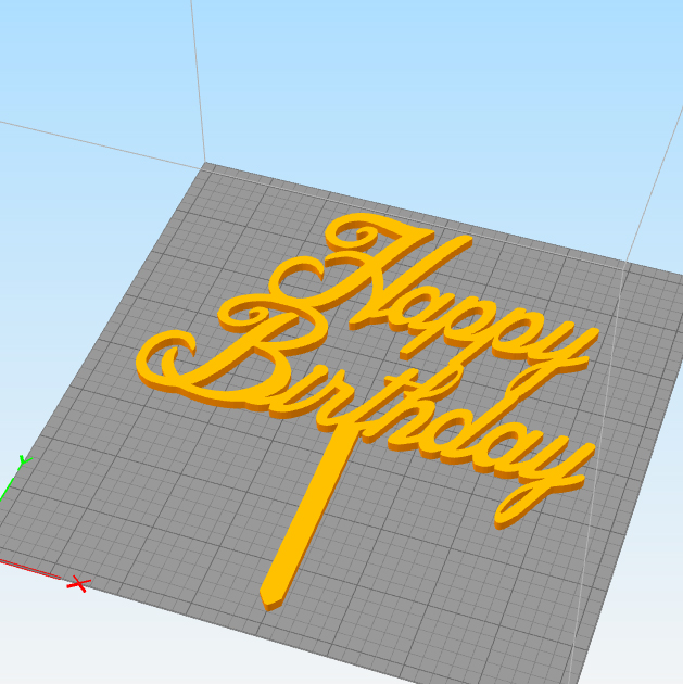 Untitled-1 copy.jpg Download STL file Birthday cake topper ( set of 3 ) • Template to 3D print, 3dprintlines