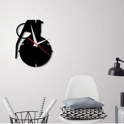 Modelos 3D para imprimir Reloj de pared decorativo C2, 3dprintlines