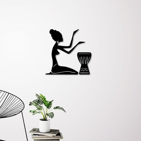 Download 3D printer model African woman wall decoration, 3dprintlines