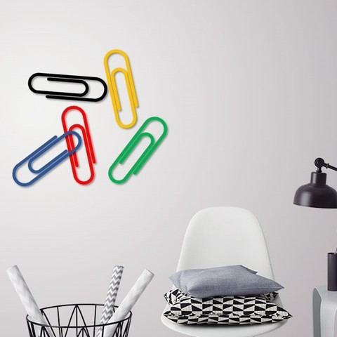 STL files Paper clip wall decoration, 3dprintlines