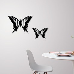 Download 3D printer templates Wall Butterfly , 3dprintlines