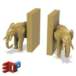 Download STL Elephant desktop bookends 1, 3dprintlines