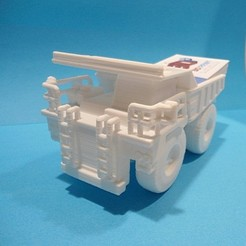 3D printing model Dump truck business card holder, 3dprintlines