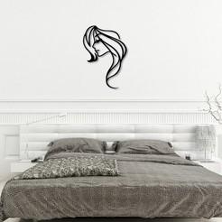 Download 3D printer model Girl face sketch wall art, 3dprintlines