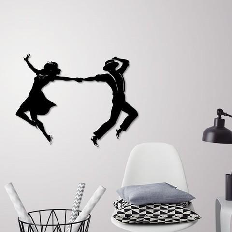 Descargar modelos 3D para imprimir Bailarinas de baile de graduación decoración de paredes, 3dprintlines