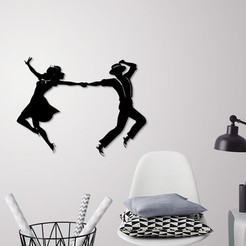 3D print files Prom dancers wall decoration , 3dprintlines