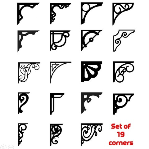 Download 3D printer designs Set of 19 Corners for Decoration and shelving , 3dprintlines