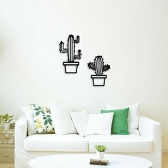 Demo.jpg Download STL file Cactus pots for wall decoration • 3D printer object, 3dprintlines