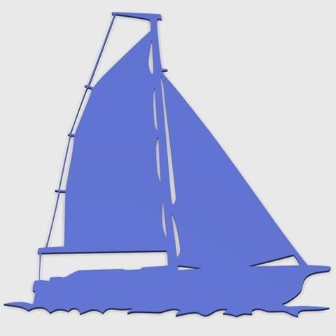 Sailing_boat_5_1.jpg Download STL file SAILING BOAT FOR WALL DECORATION_5 • 3D printable design, 3dprintlines