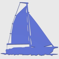 STL files SAILING BOAT FOR WALL DECORATION_5, 3dprintlines