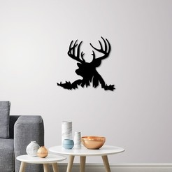Download 3D model Deer Silhouette for wall art, 3dprintlines