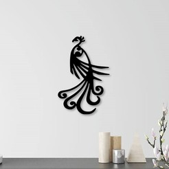 3D print files Peacock wall decoration, 3dprintlines