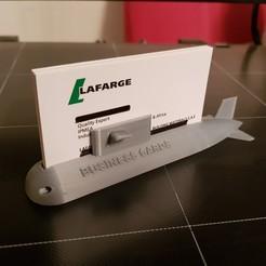 Télécharger fichier imprimante 3D Détenteur d'une carte de visite sous-marine, 3dprintlines