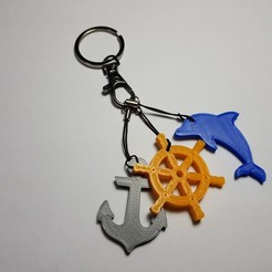 20200131_151755.jpg Download STL file Sailing Key chain  • Object to 3D print, 3dprintlines