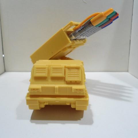 DSC01269.JPG Download STL file Missiles Launcher Pen & Pencil holder • Design to 3D print, 3dprintlines