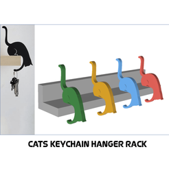 Download 3D printer designs Cats Keychain Hanger Rack , 3dprintlines
