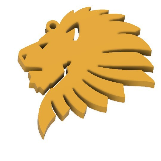 lion head_0.jpg Download free STL file Lion head key chain  • 3D printer object, 3dprintlines