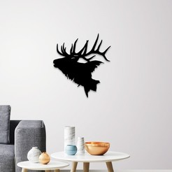 Download STL files Deer head wall art, 3dprintlines