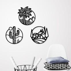 presentation.jpg Télécharger fichier STL Décoration murale des icônes de la nature • Objet à imprimer en 3D, 3dprintlines