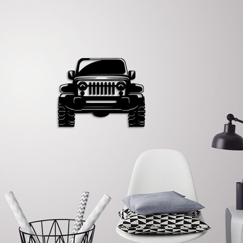 Descargar STL Jeep Wrangler decoración de pared, 3dprintlines
