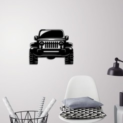 Télécharger modèle 3D Jeep Wrangler décoration murale, 3dprintlines