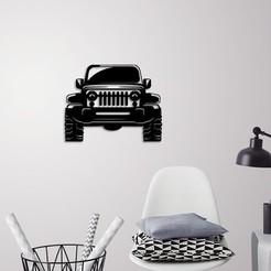 Download 3D printer files Jeep Wrangler wall decoration , 3dprintlines