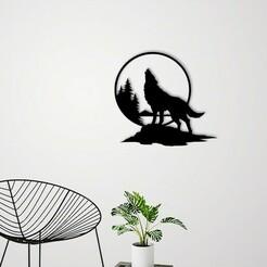 Demo.jpg Télécharger fichier STL Décoration murale du Loup Hurlant • Objet pour impression 3D, 3dprintlines