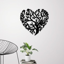 Demo.jpg Download STL file Love Tree Wall Decoration • Template to 3D print, 3dprintlines
