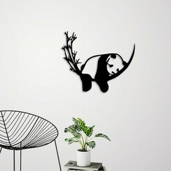 demo.jpg Download STL file Resting Panda wall decoration    • Model to 3D print, 3dprintlines