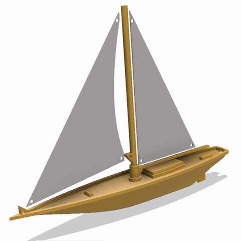 Download STL Sailing Boat 3D model , 3dprintlines
