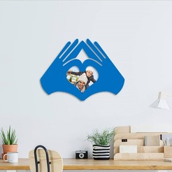 Download 3D printing designs love hands photo frame , 3dprintlines