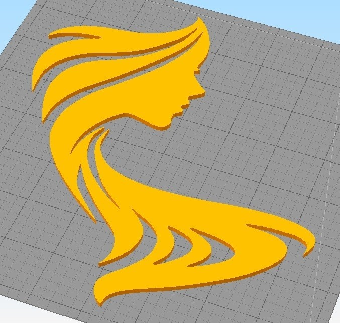 Woman Silhouette  Face_3.jpg Download STL file WOMAN SILHOUETTE FACE WALL DECORATION • 3D printing design, 3dprintlines