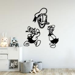 Télécharger plan imprimante 3D Donald duck Kids art mural, 3dprintlines