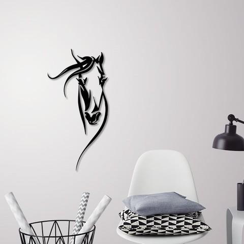 Download 3D printer designs Horse head portrait for wall decoration , 3dprintlines