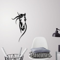 3D printer models Horse head portrait for wall decoration , 3dprintlines