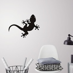 3D print model Lizard for wall decoration, 3dprintlines