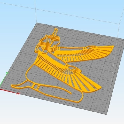 ISIS_4.jpg Download STL file PHARAOH ISIS WALL DECORATION \ DESKTOP  • 3D printing object, 3dprintlines