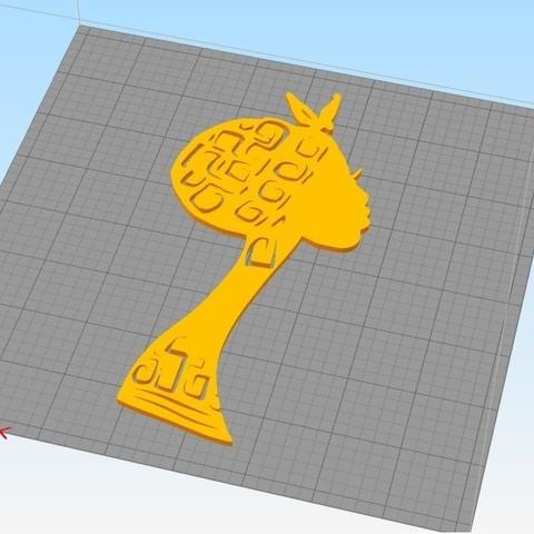 African woman_face.jpg Download STL file African Lady wall art • 3D printer model, 3dprintlines