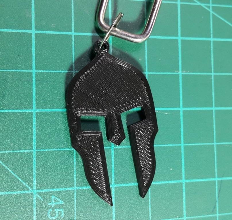 spartan helmet_3.jpg Télécharger fichier STL gratuit Porte-clés casque Spartiate • Design pour impression 3D, 3dprintlines