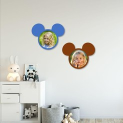 Download 3D printer templates Mickey photo frame for kids , 3dprintlines