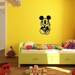Télécharger fichier 3D Mickey Kids and baby room wall art_1, 3dprintlines