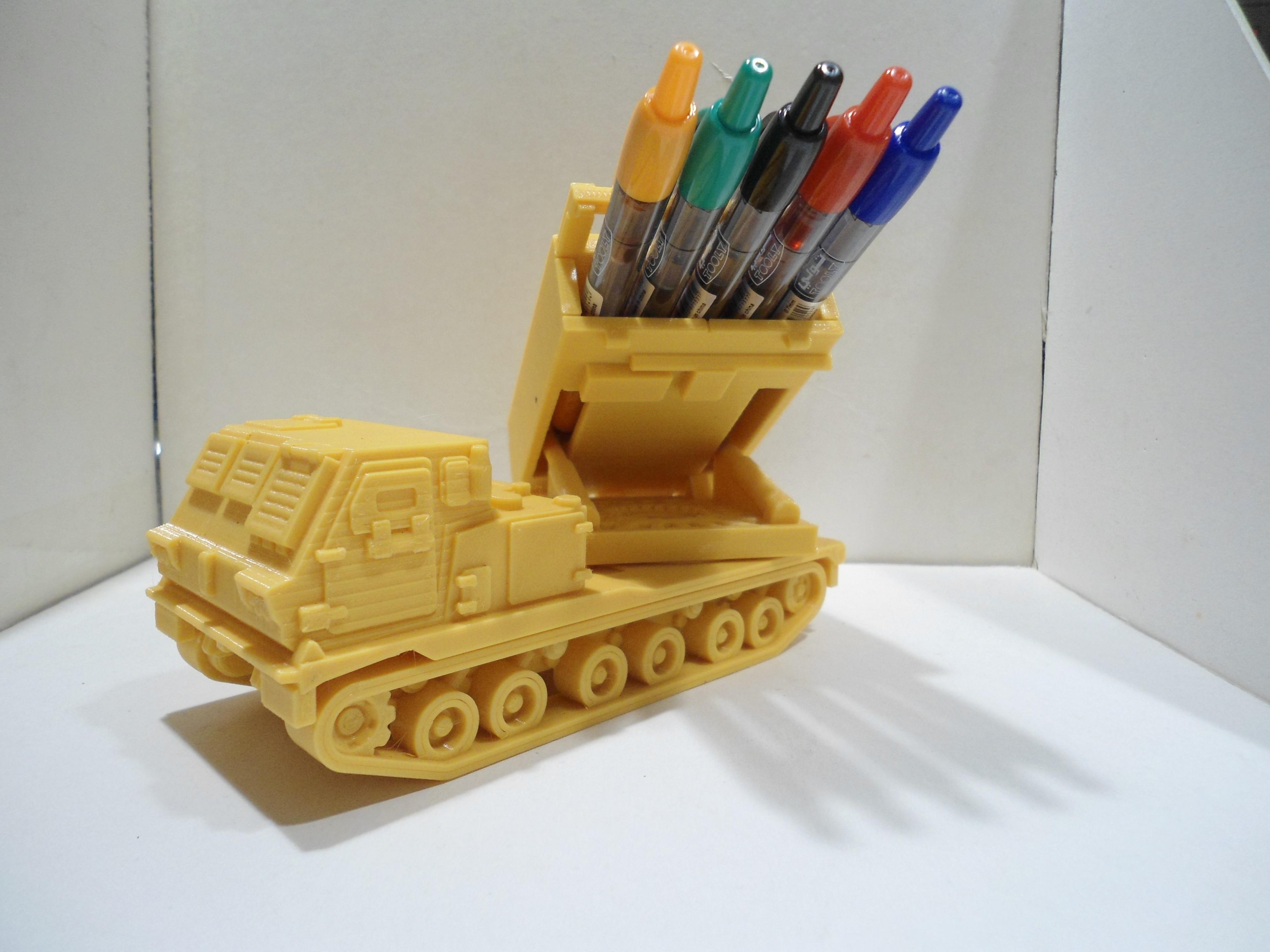 DSC01268.JPG Download STL file Missiles Launcher Pen & Pencil holder • Design to 3D print, 3dprintlines