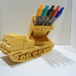 3D print model Missiles Launcher Pen & Pencil holder, 3dprintlines